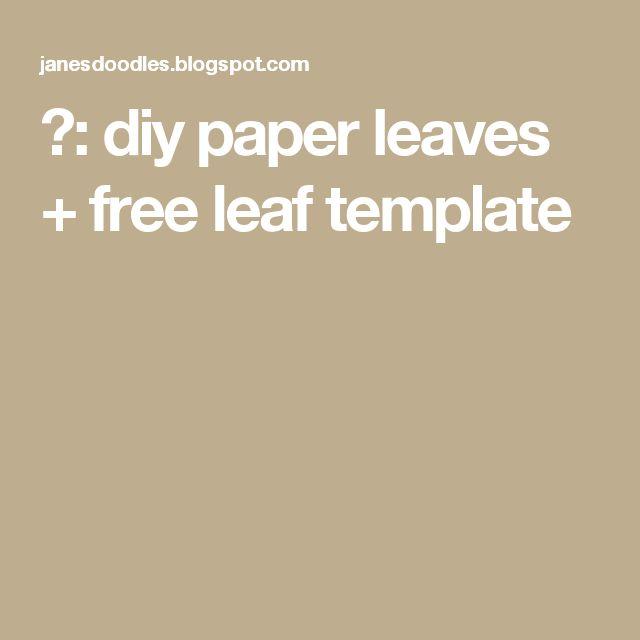 Более 25 лучших идей на тему «Leaf template» только на Pinterest - leaf template