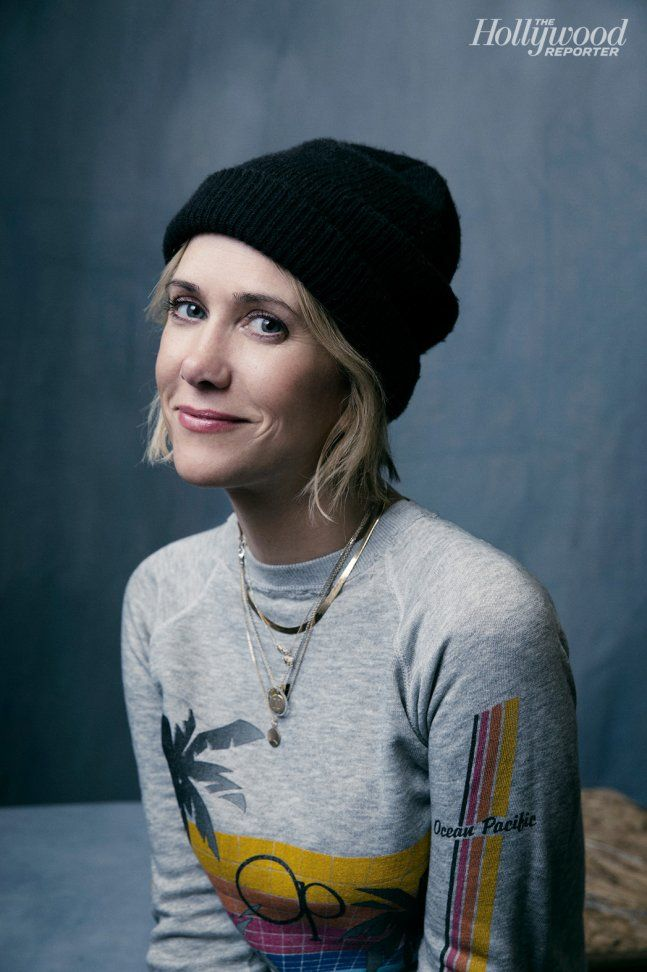 Nasty Baby's Kristen Wiig photographed at The Hollywood Reporter photobooth at the 2015 #Sundance Film Festival in Park City, Utah on Jan. 23, 2015.