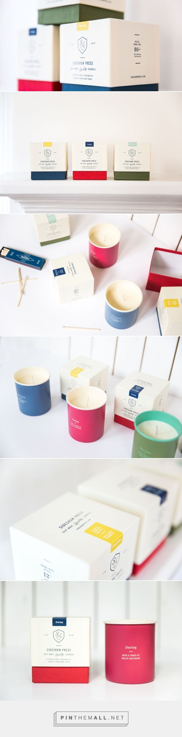 Sideshow Press Candle — The Dieline - Branding & Packaging - created on 2016-03-02 22:15:53