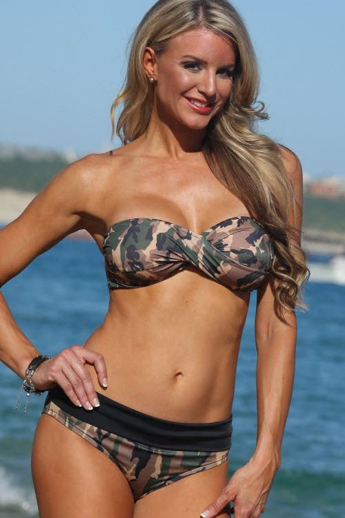 Ujena Camo Cheeky Banded Bikini At Girlfriendslingerie Com