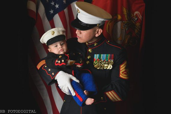 Marine Corps Baby Costume - Marine corps - usmc - USMC dress blues - usmc uniform - marine corps clothing  Hobbyist License #21512