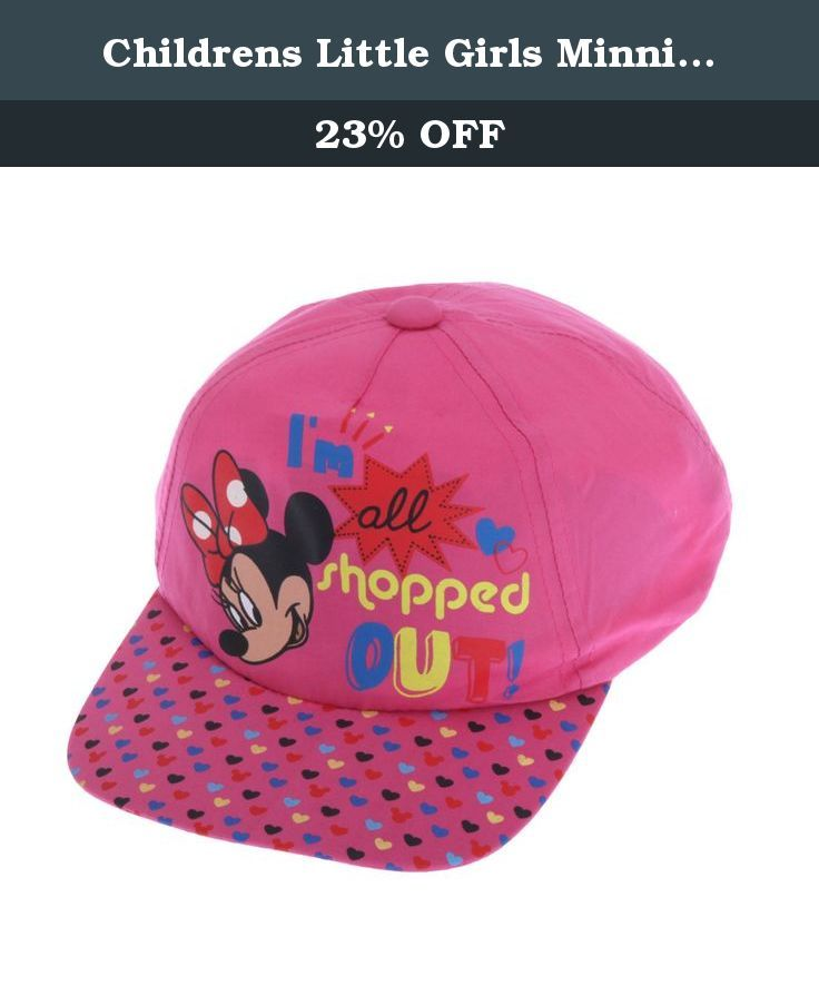 Childrens Little Girls Minnie Mouse All Shopped Out Baseball Cap (4-7 Years (22inch)) (Pink). Great quality kids cap. Perfect for any fan. Adjustable back for comfort and to adjust around your childs head. Made with 100% Cotton. Machine washable. This cute Minnie Mouse cap features the slogan Im All Shopped Out is perfect for your own little glamorous girl!.