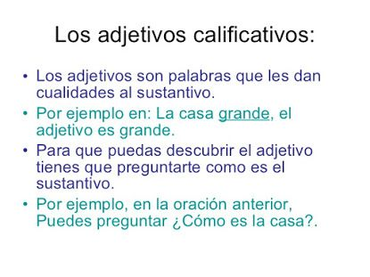 50 ORACIONES CON ADJETIVOS CALIFICATIVOS