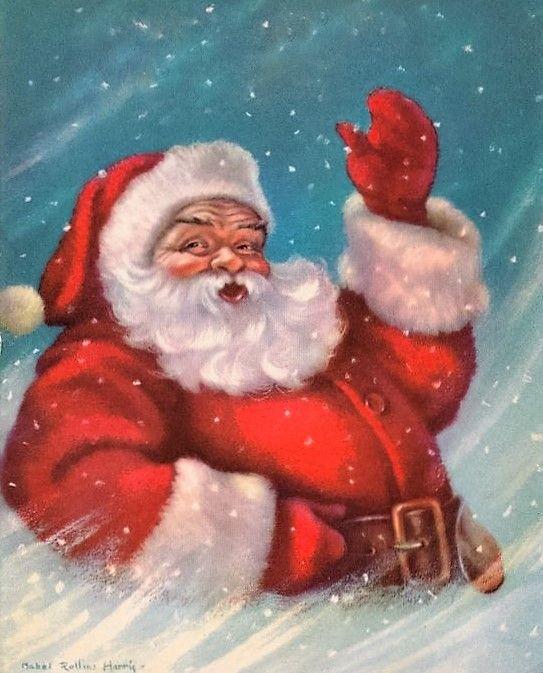 vintage santa christmas card vintage christmas