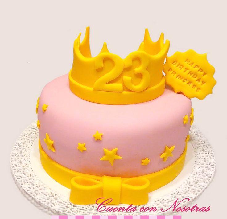 Torta Princesa Torta Corona Crown Cake Princess Cake