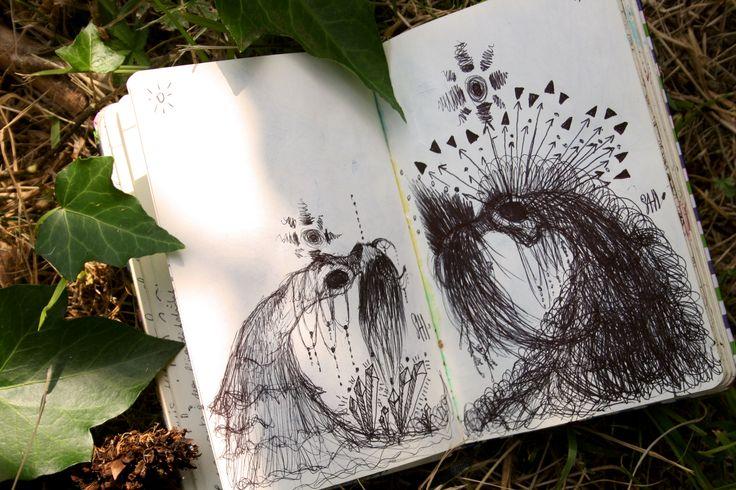 △ △ △  Psiche: Moon And Sun ~ In And Out △ △ △     #metamorphosis #psiche #apuleio #amoreepsiche #canova #dark #darkversion #illustration #project #Firenze #love #sketchbooks #sketchbook #ink #Sun #Dream #Dreamsun #Moon #Shidrawing #SHI #workit #printmaker #hair
