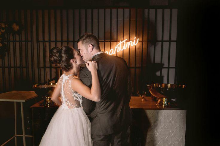 Bride & Groom Kiss - A Wedding at The Joinery West End with DJ Ben Shipway // #GMEventGroup #DJBenShipway #BrisbaneWedding #WeddingDJ