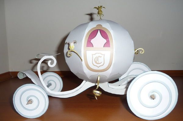 Cinderella Coach | FREE paper models PaperInside.com