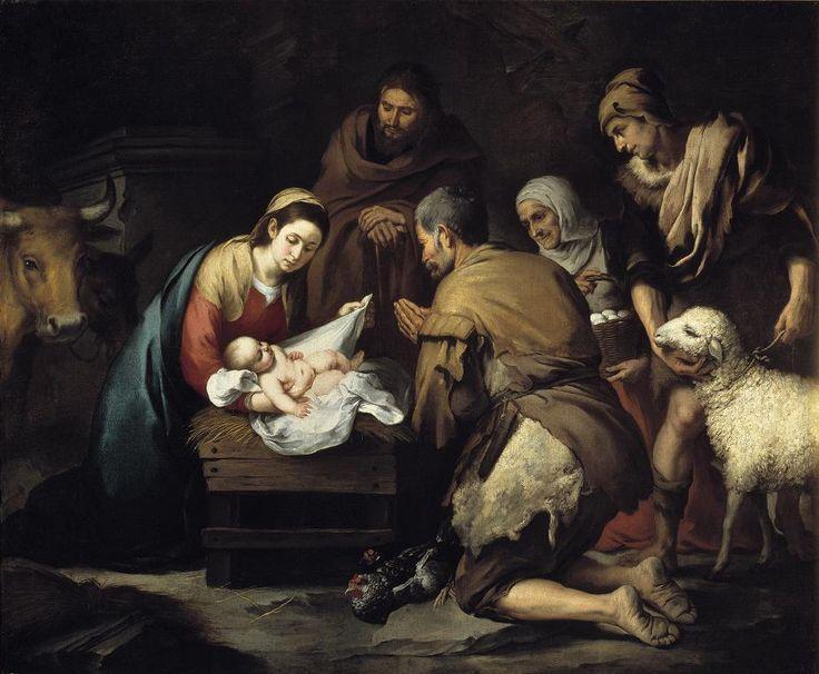 La Adoración de los Pastores  by Bartolomé Murillo