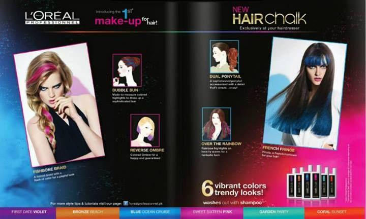 Loreal Professionnel HairChalk - 6 Vibrant Colors & Trendy looks. - BrandSynario