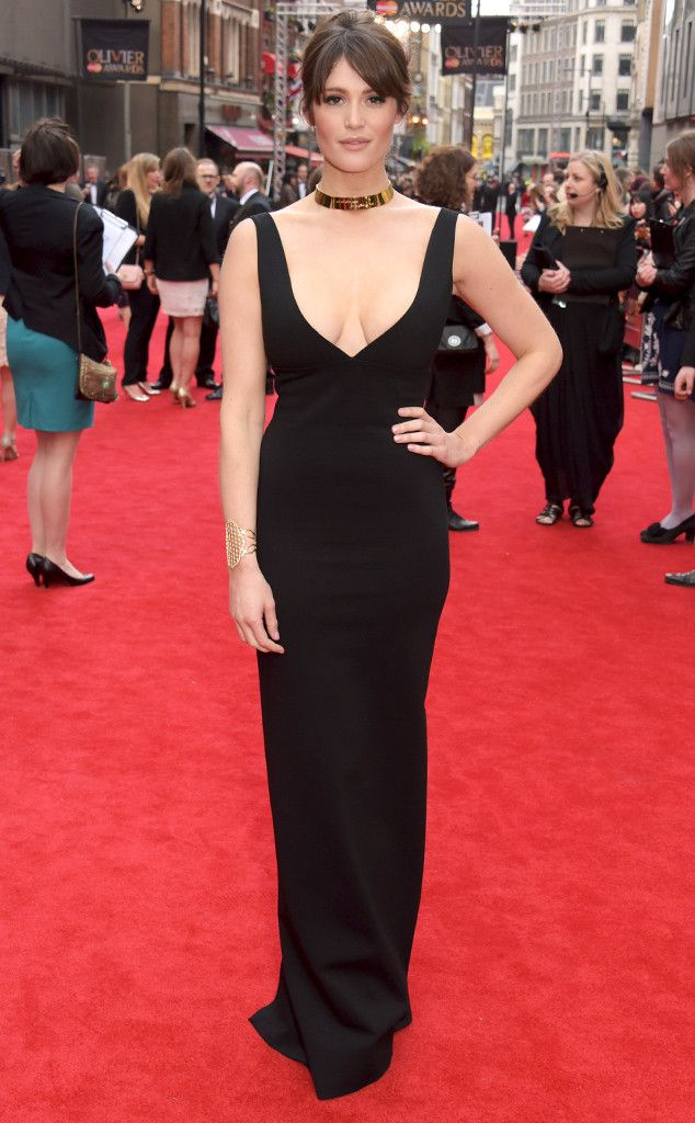 Gemma Arteron from The Best of the Red Carpet  Nothing blah about this black dress! The former Bond girl takes the plunge and bares her décolletage in a curvy Dsquared gown.