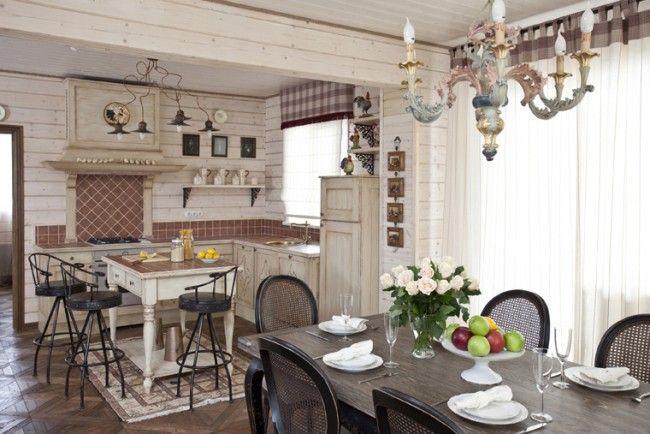 HappyModern.RU | Дизайн кухни в стиле прованс: французский шарм и деревенское очарование (60 фото) | http://happymodern.ru
