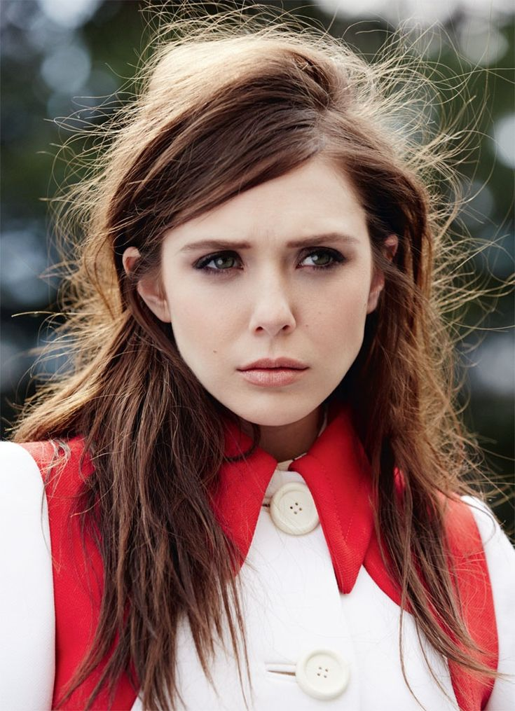 elizabeth olsen fashion shoot1 Elizabeth Olsen in Pastel Styles for Marie Claire UK Shoot by David Roemer