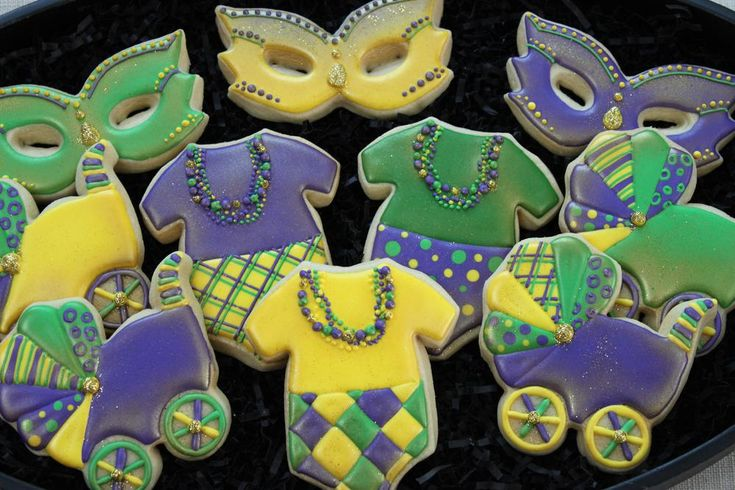 Mardi Gras Baby Shower   Cookie Connection