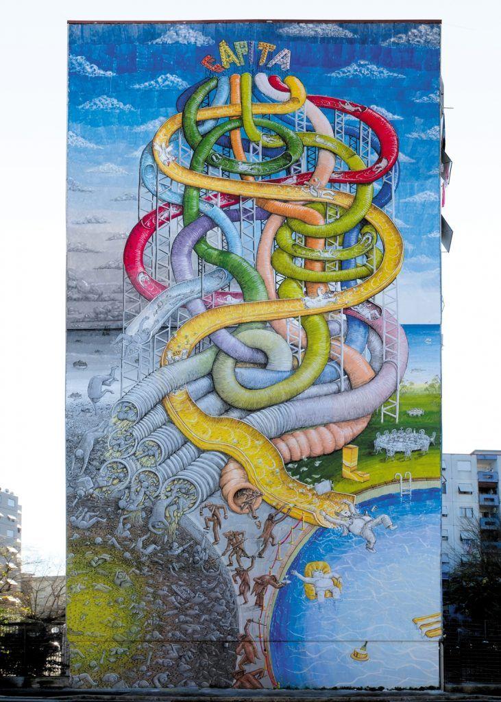 Capita L Opera Di Protesta Di Blu A Roma Arte En Las Calles