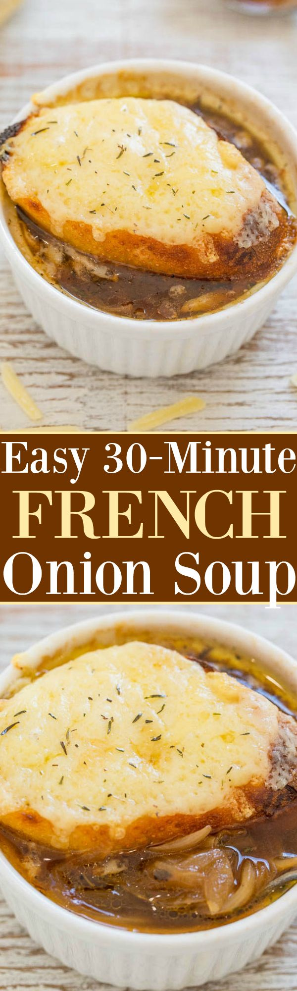 Easy One-Hour French Onion Soup - Averie Cooks
