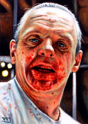 Hannibal Lecter.    Done with Copic markers and ink