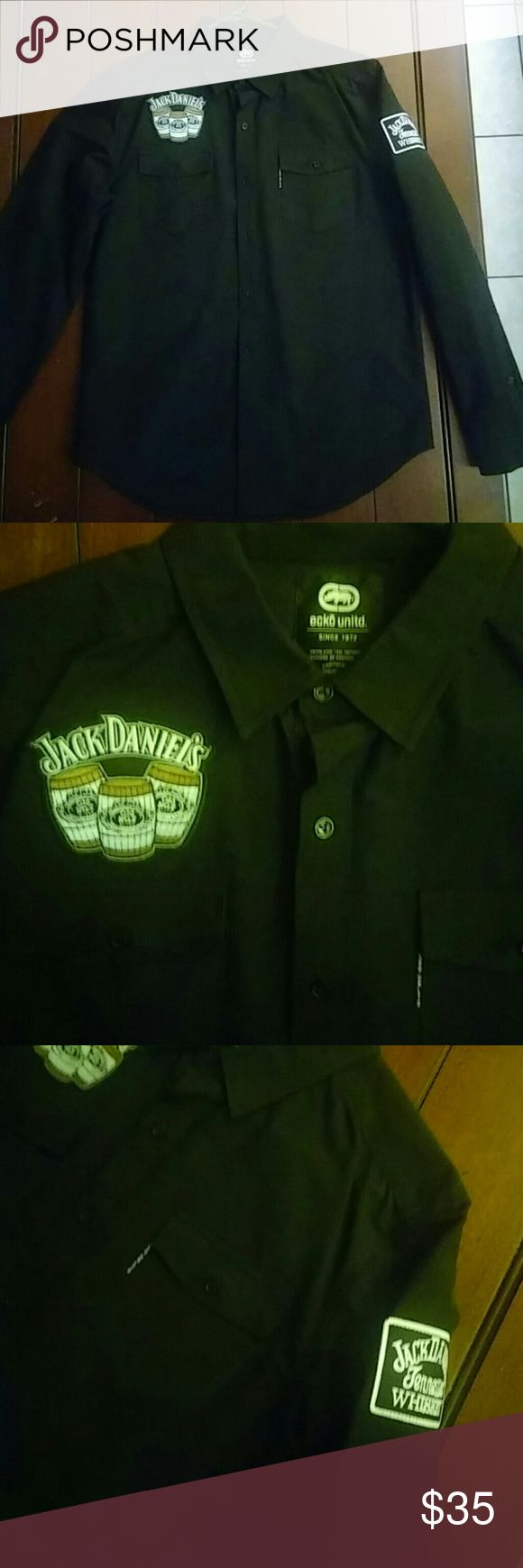 Ecko unlimited Jack Daniels Shirt Black Ecko long sleeve Jack Daniels Shirt. New never worn. Ecko Unlimited Shirts Casual Button Down Shirts