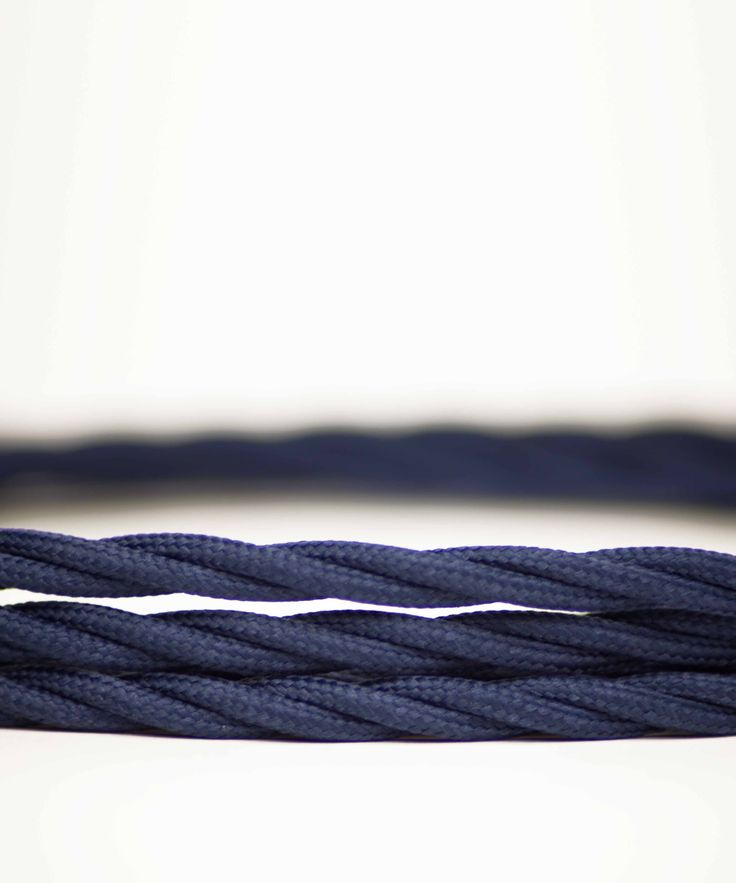 Vintage Fabric Electric Cable - Ocean Blue Twisted - William&Watson