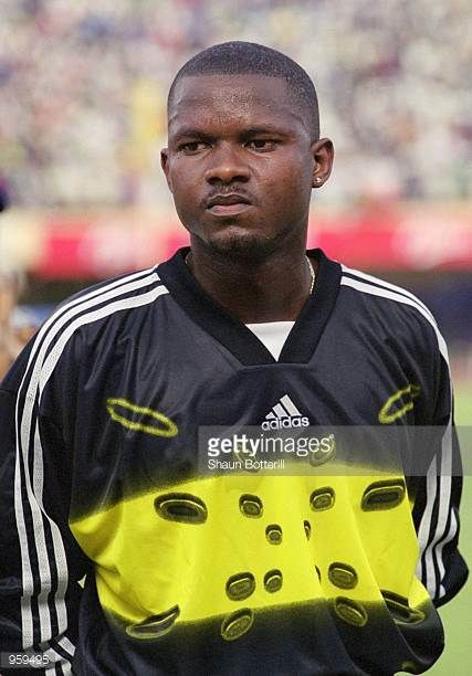 Portrait of Tony Sylva of Senegal prior to the FIFA 2002 World Cup Qualifyng match against Morocco played at the Stade Leopold Sedar Senghor in Dakar...