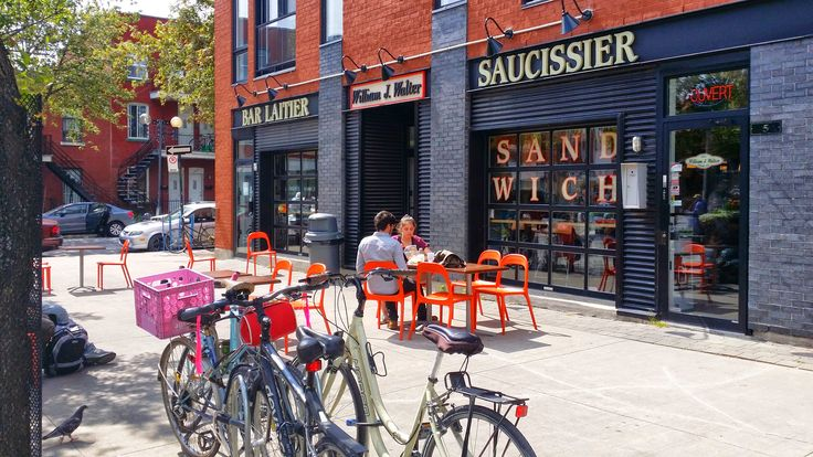 A little pocket in Hochelaga Maisonneuve neighborhood with some great eateries.