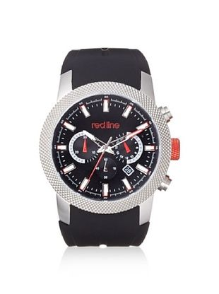 80% OFF red line Men's 10017-01 Gauge Black Silicone Watch
