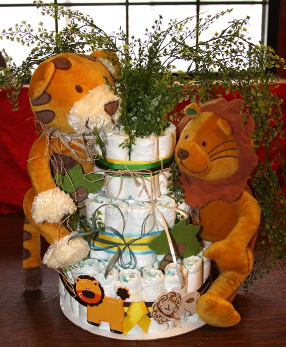 Jungle Baby Shower Diaper Cake