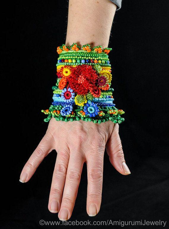 Green Yellow Red Burgundy Orange Blue crochet от KaterinaDimitrova