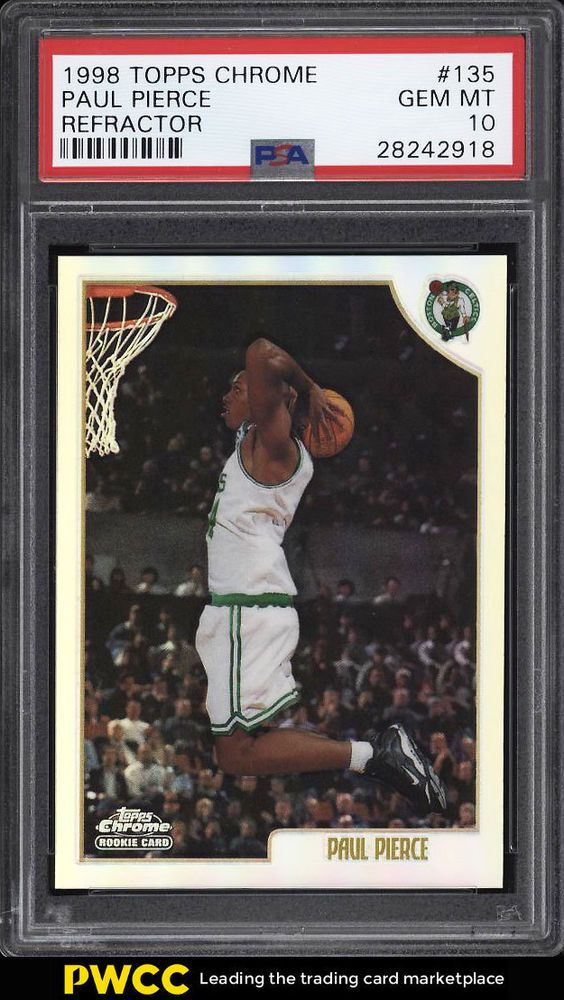 1998 Topps Chrome Refractor Paul Pierce Rookie Rc 135 Psa