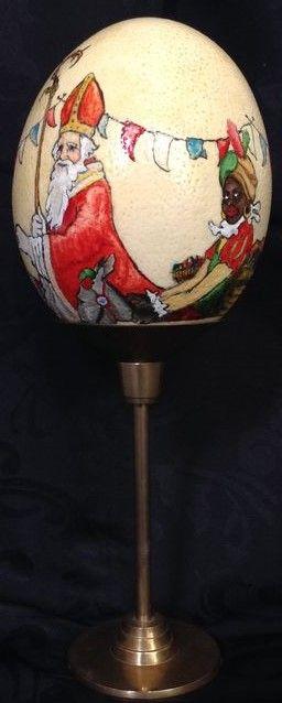 Beschilderde struisvogelei