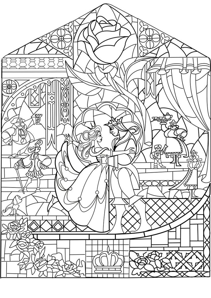 4572 best Design Patterns images on Pinterest Coloring pages - fresh printable coloring pictures of beauty and the beast