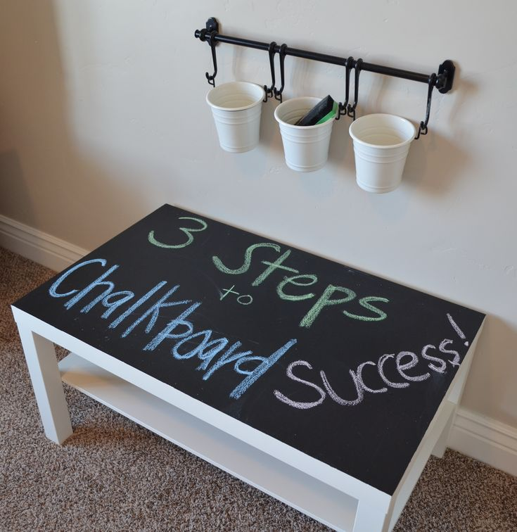Chalkboard table- How to use chalkboard paint successfully. Love it!