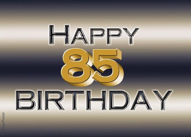 Happy 85th Birthday Chrome Card Ad Ad Happy Birthday Card Chrome