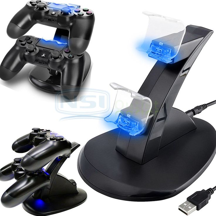 LED Dual USB Stand Charger Fast Charging Dock Station For Sony PS4 Controller US #NSI