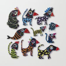 Animal Carnival Canvas Print. By Elena Losada.  Elena Losada's Store: https://society6.com/elenalosada