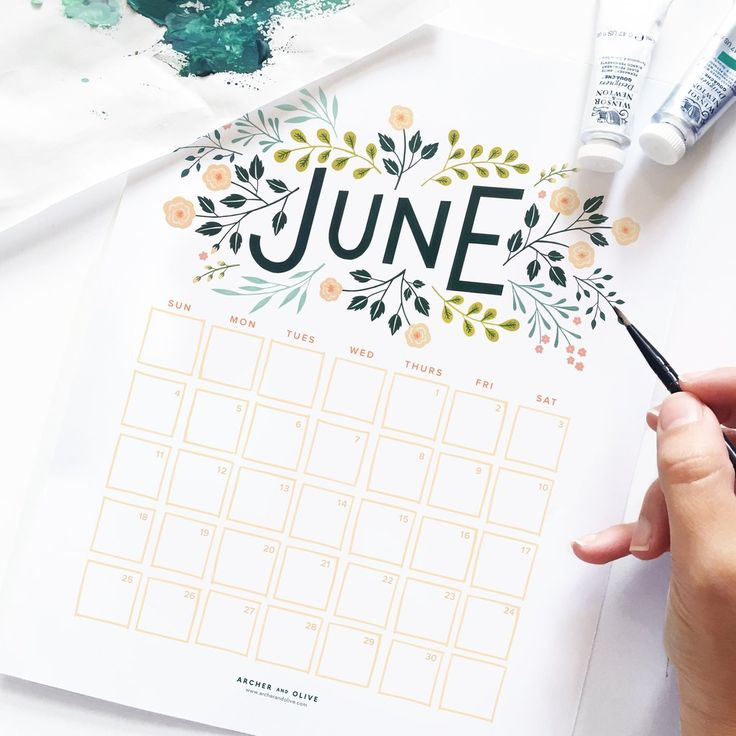 June is  (almost) here! Have fun planning out your month with our free June calendar printable. Use code: JUNE when downloading.