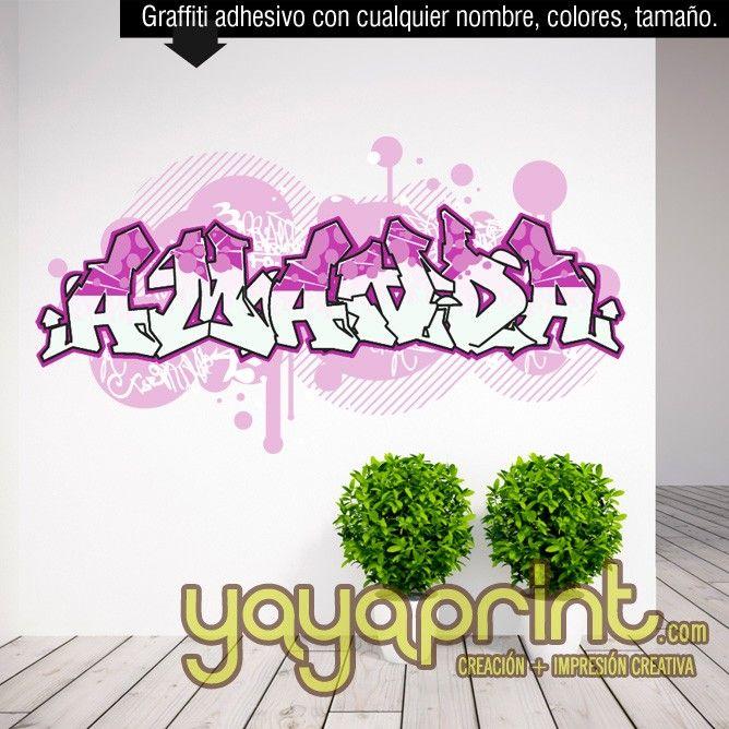 233 best graffiti nombre decoraci n habitaci n dormitorio for Vinilos habitacion juvenil chico