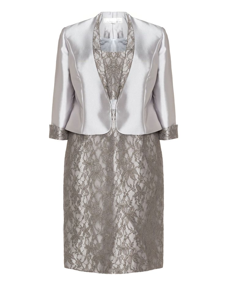 398 best two piece occasion outfits images on pinterest for Cocktail dress with jacket for wedding