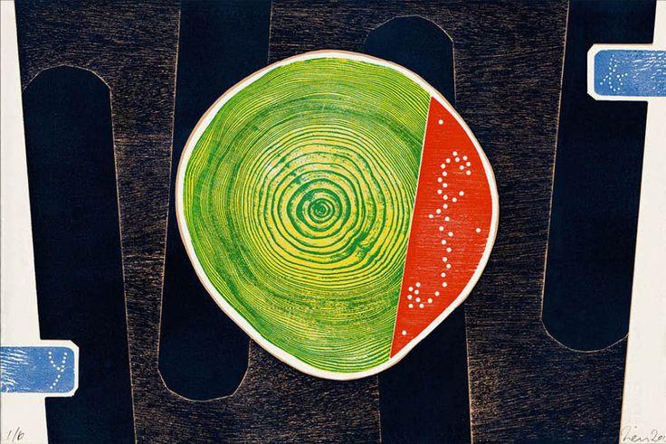 Neilton Clarke - Tailgate Picnic (woodblock)