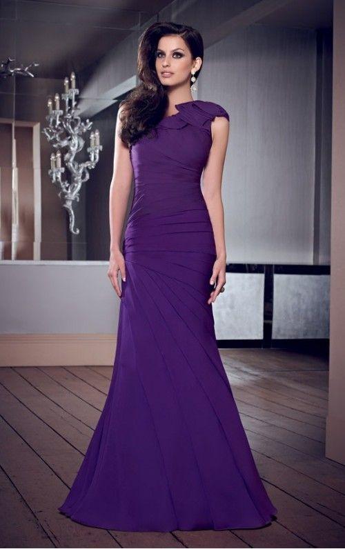 noble One Shoulder Ruched Mermaid Floor-length Dresses