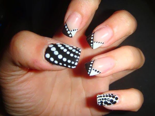 100 best nails black white images on pinterest nail arts french acrylic nail design 2014 prinsesfo Image collections