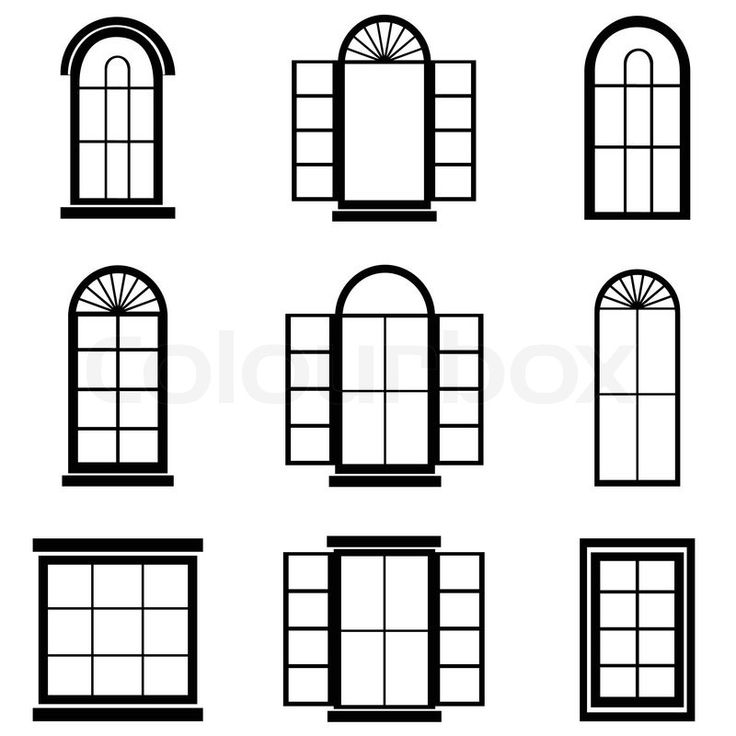window and door exterior drawing illustration - Google Search