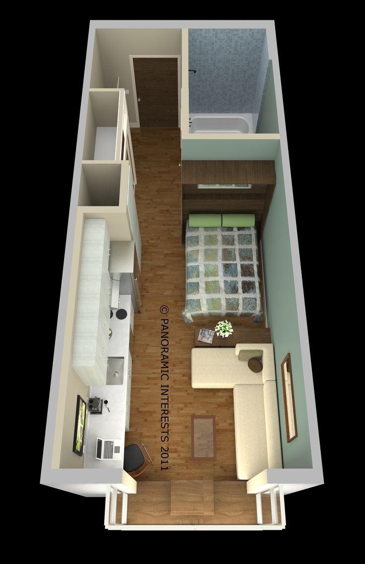 Take That, Tokyo! San Francisco Approves 220-Square-Foot 'Micro-Apartments' | Floor plan of SmartSpace's 285-square-foot unit.  | Credit:Image courtesy of Patrick Kennedy | From WIRED.com