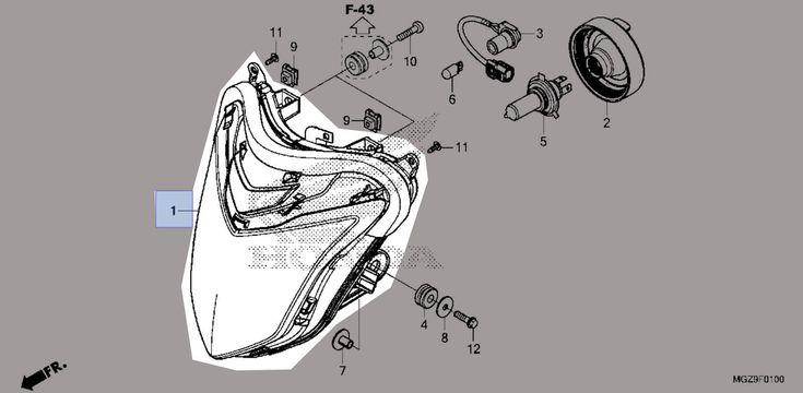 ☑️ Honda 2013-2015 CB Headlight Unit 33110-MGZ-306 New OEM