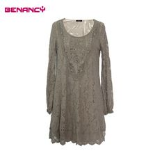 Lace Crochet Romantic See-Through Mid-aged Women Dress Prom Wear Best Buy follow this link http://shopingayo.space