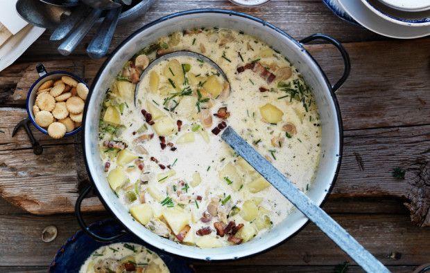 Make john f kennedy 39 s new england fish chowder recipe for New england fish chowder