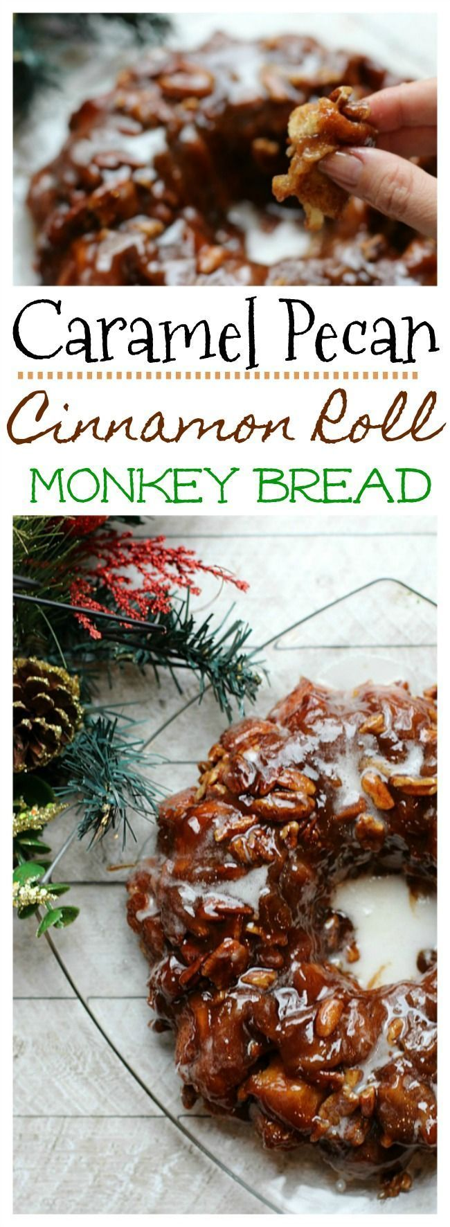 Start a new holiday tradition with our easy-to-make Caramel Pecan Cinnamon Roll Monkey Bread made with ingredients from #SamsClub! Get the recipe today! #ad #SavortheSeason #ItsBakingSeason #BakeEatCelebrate