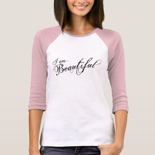 I am Beautiful Women's 3/4 Sleeve Raglan T-Shirt