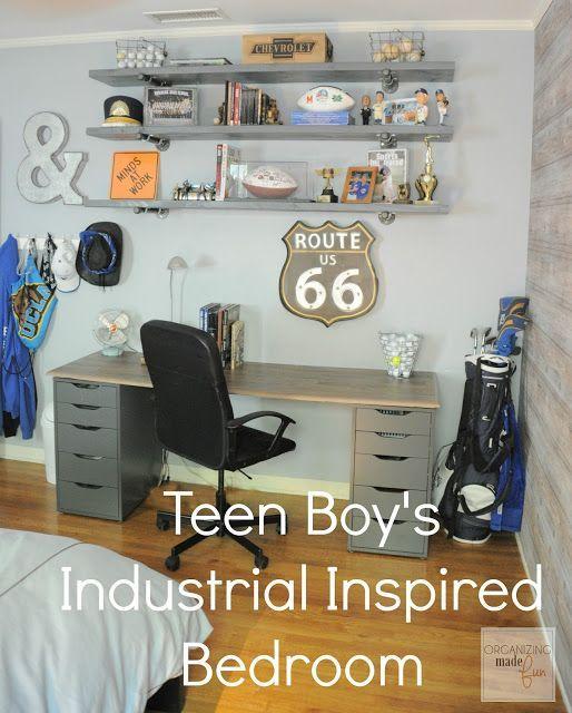 Teen Boys Bedroom Final Reveal | Organizing made Fun | Bloglovin'
