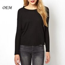 Wholesale Womens Blank Black Plain Long Sleeve T Shirt  Best Buy follow this link http://shopingayo.space